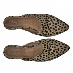 Madewell Remi Mules Spotted Leopard Calf Hair